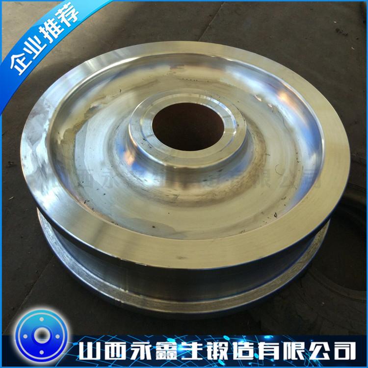 厂家供应_45钢锻件_起重机车轮
